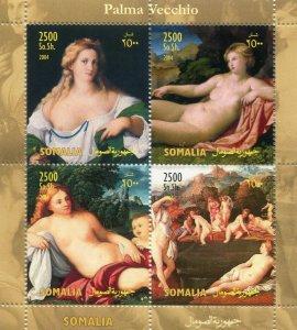 Somalia 2004 PALMA VECCHIO Nudes Paintings Sheet Perforated Mint (NH)