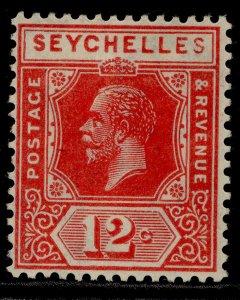 SEYCHELLES GV SG108, 12c carmine-red, M MINT.