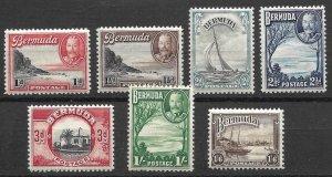 Doyle's_Stamps: 1936-1940 NH Bermuda King George V Postage Stamp Lot