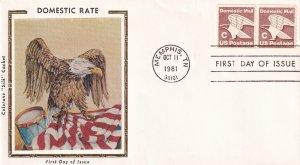 1981, D Domestic Rate, Colorano Silk, FDC (E12261)