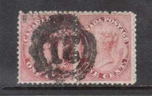 Canada #14ii VF Used Pair With 4 Ring 21 Cancel **With Certificate**