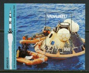 VANUATU  APOLLO 11 20th ANNIVERSARY OF THE MOON LANDING SOUVENIR SHEET MINT NH