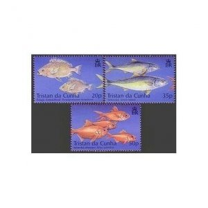 Tristan da Cunha 711-713,MNH. Fishing Industry 2002.Pelagic armor-head,Alfonsino