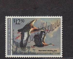 RW57B Federal Duck Stamp Error. Used. Rare  #02 RW57Bb
