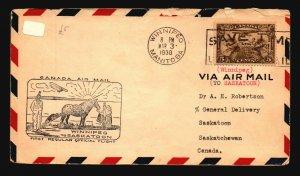 Canada 1930 FFC Winnipeg to Saskatoon - L2065