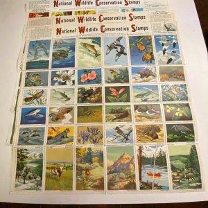 National Wildlife Conservation Stamps jumbo animal seals vtg 50s-70s cinderella