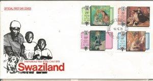 SWAZILAND, 1979,FDC,,Paintings Scott 325-328