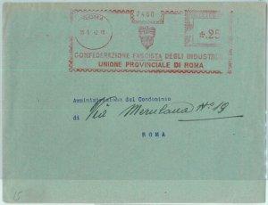91158 - STORIA POSTALE - Annullo ROSSO MECCANICO  1942 Confederazione Fa,  ROMA
