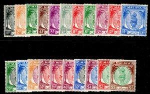 MALAYSIA - Perak SG128-148, COMPLETE SET, LH MINT. Cat £110.