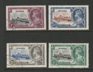 St Lucia 1935 Silver Jubilee VFU SG 109/12