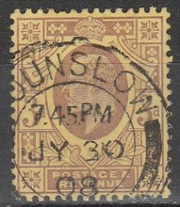 Great Britain #132  F-VF  Used CV $19.00 (S8058)
