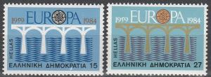 Greece #1493-4  MNH VF CV $2.50 (V3154)