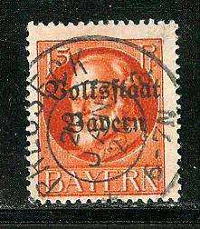 German States Bavaria Scott # 140, used