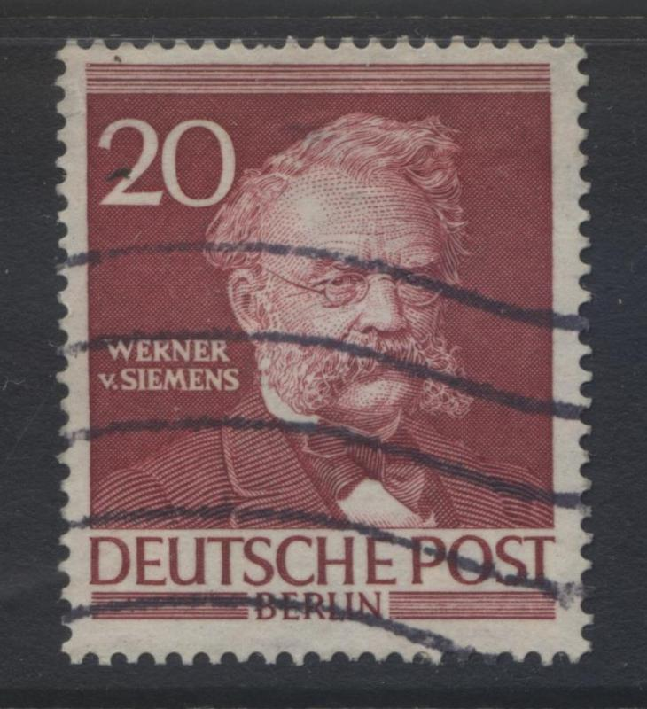Germany-Occupation- Scott 9N90 - Von Seimans -1952 - Used -Single 20pf Stamp