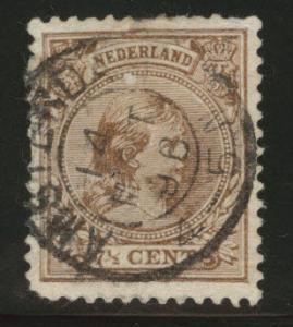 Netherlands Scott 42 used 1894 issue CV$6.25