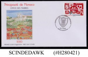 MONACO - 2020 OLYMPIC GAMES, TOKYO JAPAN / SPORTS FIRST DAY COVER