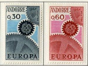 FRENCH ANDORRA 182-3 MH SCV $16.50 BIN $7.00 EUROPA