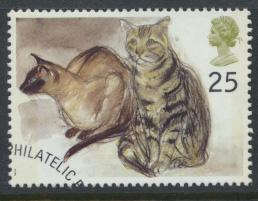 Great Britain  SG 1849 SC# 1587 Used / FU with First Day Cancel Cats