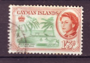 J21939 Jlstamps 1962 cayman island part of set used #163 queen/view
