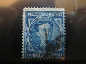 Spanien Espagne España Spain 1876 King Alfonso 10c fine used stamp A13P36F185