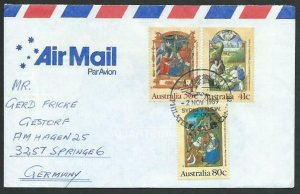 AUSTRALIA 1989 cover to Germany - nice franking - Sydney pictorial pmk.....14792