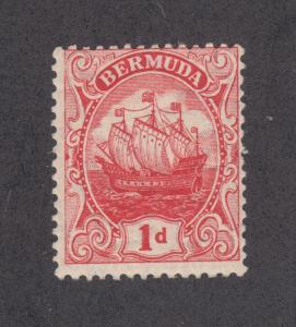 Bermuda Sc 42 MLH. 1910 1p red Caravel