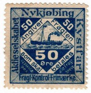 (I.B) Denmark Cinderella : Nykjøbing Coastal Shipping - Parcels 50 Øre