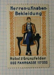Nobel & Grunzfelder Men's & Boys Clothing German Brand Poster Stamps Ads