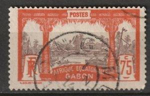 Gabon 1910 Sc 68 used