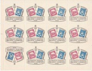 C12) Australia 1960 Anpex Labels, NSW 1d Sydney Views & Victoria 3d Half Length