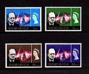 DOMINICA - 1966 - QE II - CHURCHILL MEMORIAL - MINT - MNH SET!
