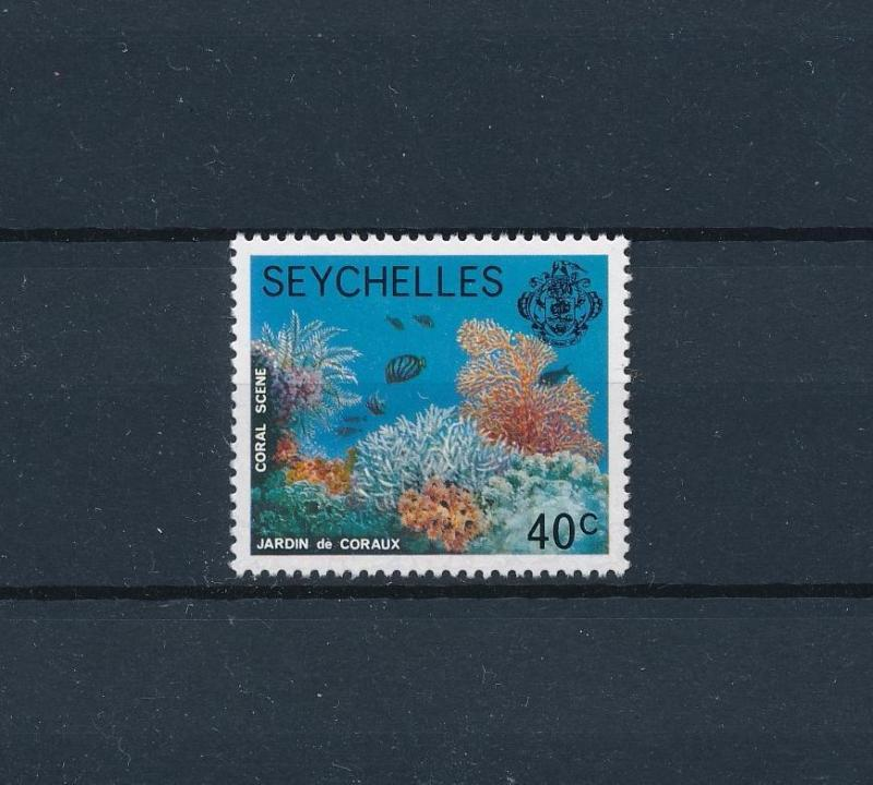 [60057] Seychelles 1977 Marine life Coral Fish from set MLH