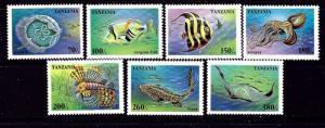 Tanzania 1404-10 MNH 1995 Marine Life