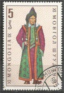 MONGOLIA, 1969, CTO 5m,Costumes Scott 524