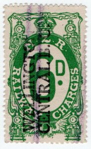(I.B) New Zealand Railways : Railway Charges 6d (Wellington)