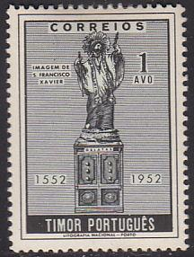Timor 272 Hinged 1952 Statue of St. Francis Xavier
