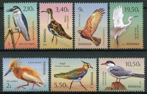 Romania Birds on Stamps 2021 MNH Delta of Moldova Herons Egrets Terns 7v Set