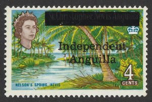 ANGUILLA : 1967 'Independent Anguilla' QEII Nelson's Spring 4c. MNH **.
