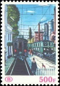 Belgium #Q464-Q465, Complete Set(2), 1985, Trains, Never Hinged