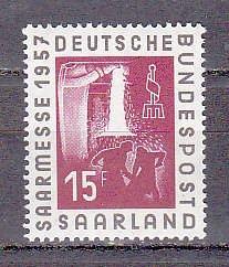 Saar 284 1957 Steel Industry Cpl MNH