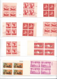 US AIRMAIL COLLECTION OF 41 PLATE BLOCKS MNH/OG