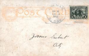 United States South Dakota Colman 1913 non standard pseudo doane 7-bar  1c Pa...