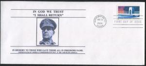 2004 USA General Douglas MacArthur National WWII Memorial First Day Cover