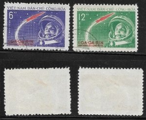 1961 North Vietnam  Yuri Gagarin Space Flight  SC#160-161 Used