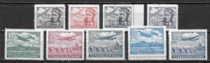 Czechoslovakia C19-27 Airmails set MNH