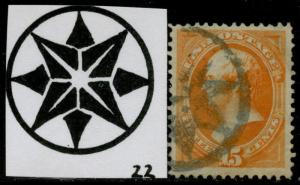#163 XF USED WITH NY FOREIGN MAIL CANCEL BQ3472