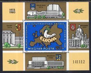 Hungary 2666 Europa Souvenir Sheet MNH VF