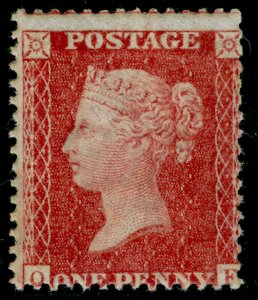 SG38, 1d pale red PLATE 34, LC14, NH MINT. Cat £100+