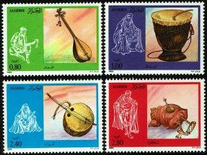 Algeria #748-51  MNH - Native Musical Instruments (1984)