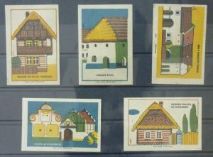 Match Box Labels ! architecture construction house houses GN4